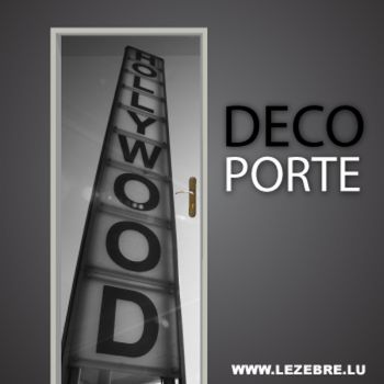 Hollywood door decal
