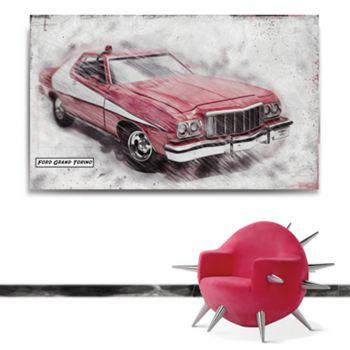 TablEau Fiat Grand Torino, inspiration du film Starsky et Hutch