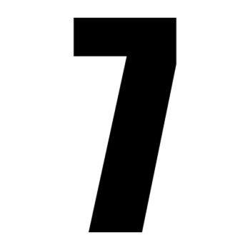 Set of 2 number 7 race decals