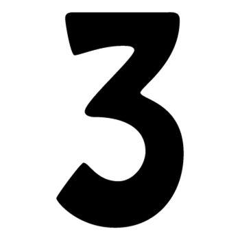 Set of 2 number 3 DAKAR decals