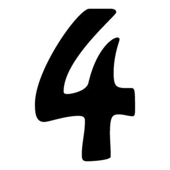 Set of 2 number 4 DAKAR decals