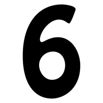 Set of 2 number 6 DAKAR decals
