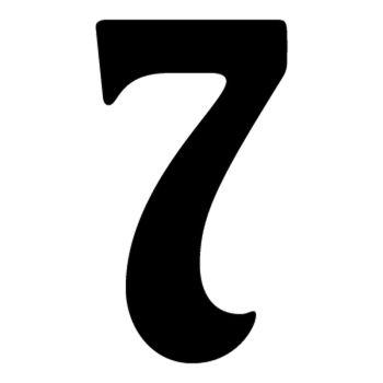 Set of 2 number 7 DAKAR decals