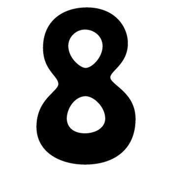 Set of 2 number 8 DAKAR decals