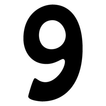 Set of 2 number 9 DAKAR decals
