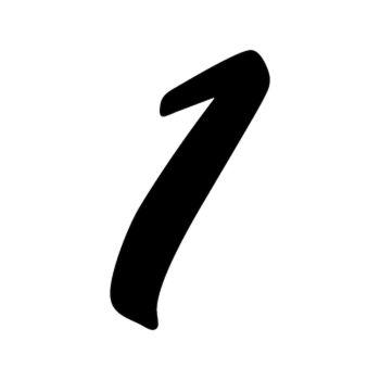 Set of 2 number 1 EVASION decals
