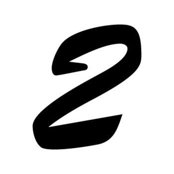 Set of 2 number 2 EVASION decals