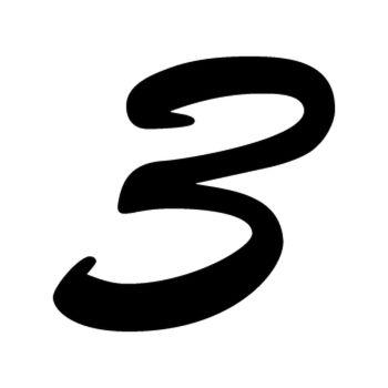 Set of 2 number 3 EVASION decals