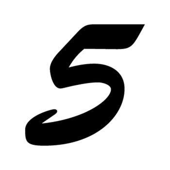Set of 2 number 5 EVASION decals
