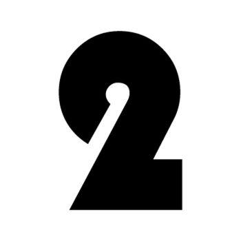 Set of 2 number 2 RAID decals