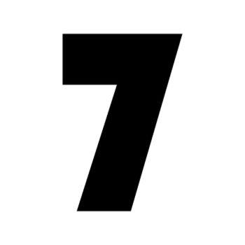 Set of 2 number 7 RAID decals