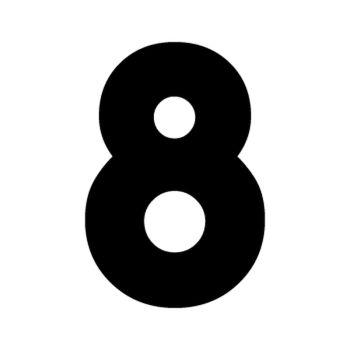 Set of 2 number 8 RAID decals