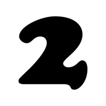 Set of 2 number 2 MOTOCROSS decals