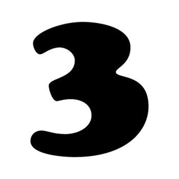 Set of 2 number 3  MOTOCROSS decals