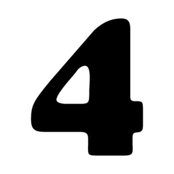 Set of 2 number 4 MOTOCROSS decals