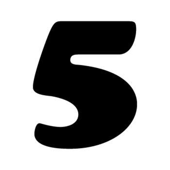 Set of 2 number 5 MOTOCROSS decals