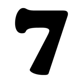 Set of 2 number 7 MOTOCROSS decals