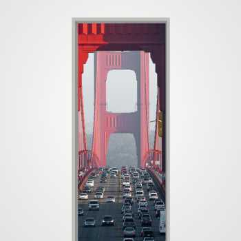 Golden Bridge San Fransisco door decal