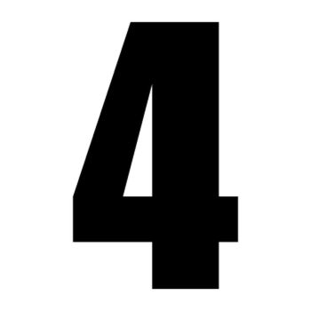 Set of 2 number 4 race decals