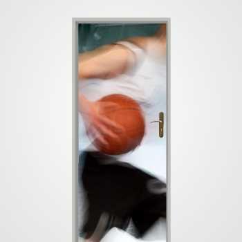 Sticker Déco Porte Basketball