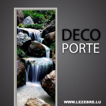 Waterfall door decal