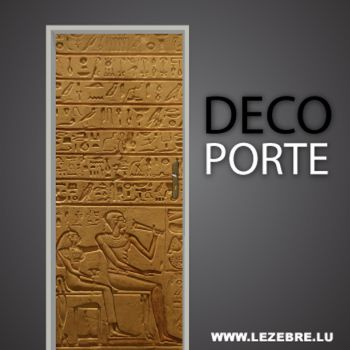 Egypt door decal