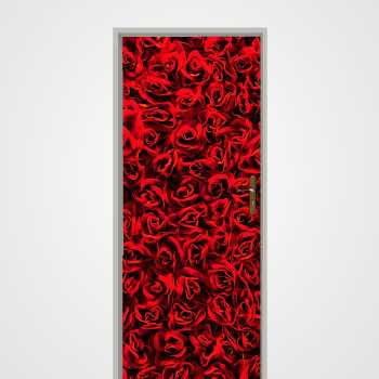 Roses door decal