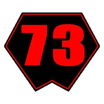 Motorcycle Number Decal (racing, cross)