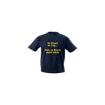 Tee shirt Camping - Un Ricard de trop!