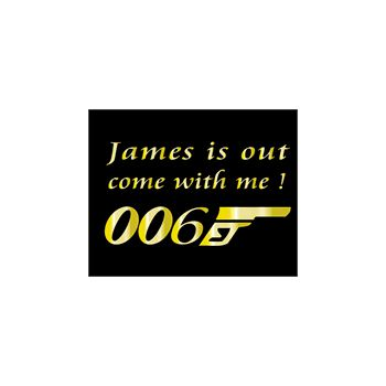 Tee shirt My Name is 006 James Out parodie James Bond