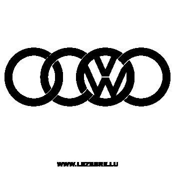 Sticker Audi VW (Volkswagen)