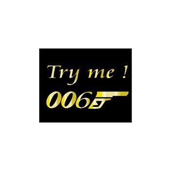Casquette 006 Try Me parodie 007 Bond
