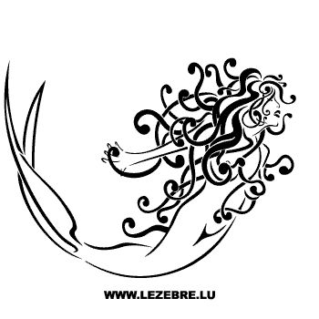 Super Mermaid Decal