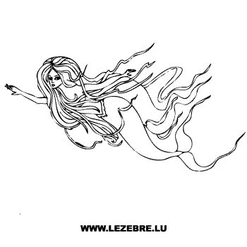 Bardo Mermaid Decal