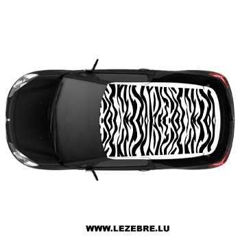 Sticker Déco Toit Auto Zèbré - covering toit voiture
