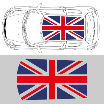 Suzuki Swift Union Jack Roof Decal
