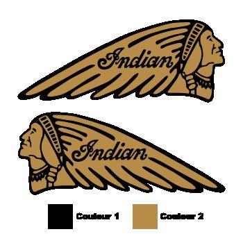 Set of 2 Indian decals
