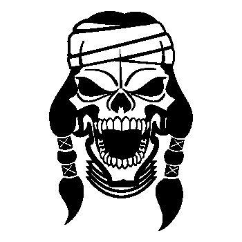 Apache Skull Decal