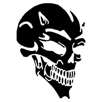 Devil Skull Decal 7