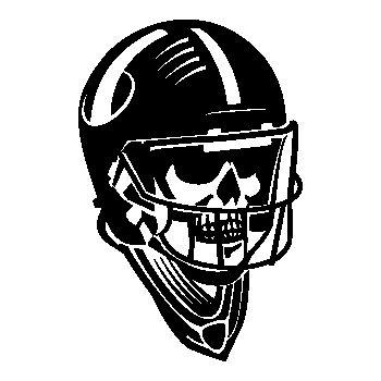 Tee shirt Tête de Mort Casque Football Américain