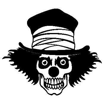Clown Skull Decal