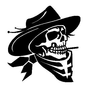 Cowboy Skull Decal