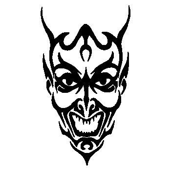 Demon Skull Decal 14