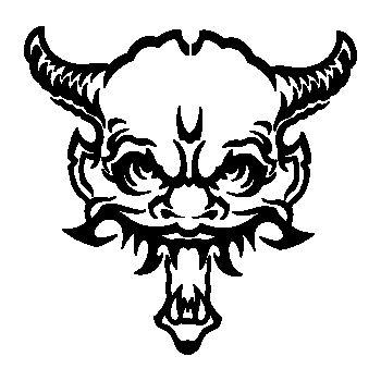 Demon Skull Decal 15