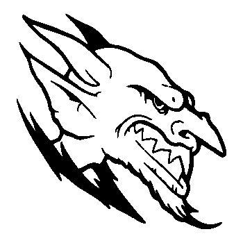 Demon Skull Decal 16