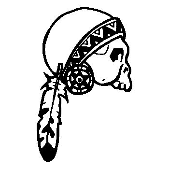 Indian Skull Decal 18