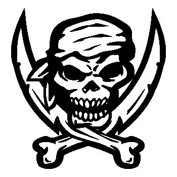 Tee shirt Tête de Mort Pirate Epées 22