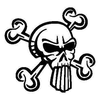 Punisher Skull Decal 28