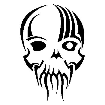 Tribal Skull Decal 17