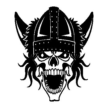Viking Skull Decal 30